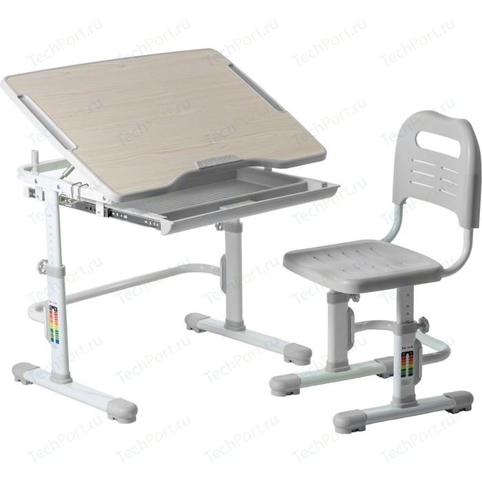 Комплект парта + стул трансформеры FunDesk Vivo grey