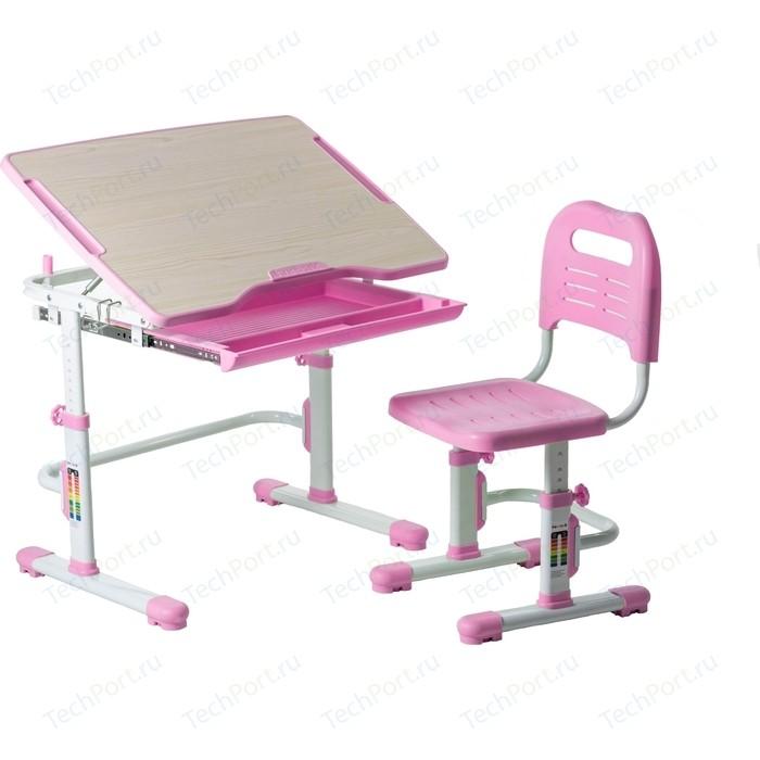 Комплект парта + стул трансформеры FunDesk Vivo pink