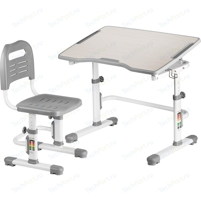 Комплект парта + стул трансформеры FunDesk Vivo II grey