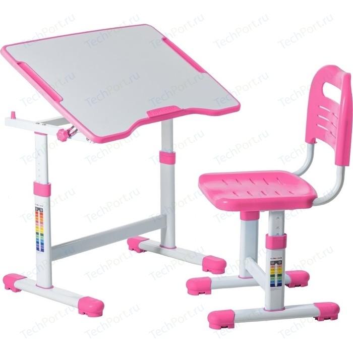 Комплект парта + стул трансформеры FunDesk Sole II pink