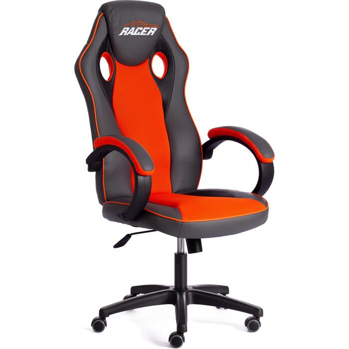 Кресло TetChair Racer кож/зам/ткань металлик/оранжевый 36/07