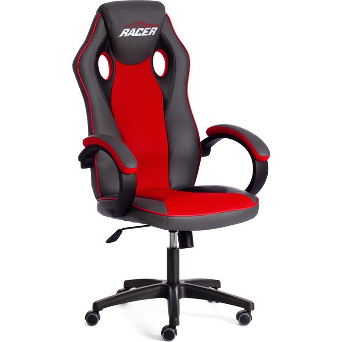 Кресло TetChair Racer кож/зам/ткань металлик/красный 36/08
