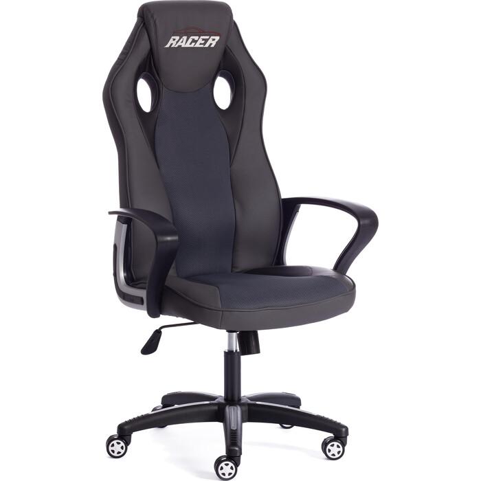 Кресло TetChair Racer кож/зам/ткань металлик/серый 36/12