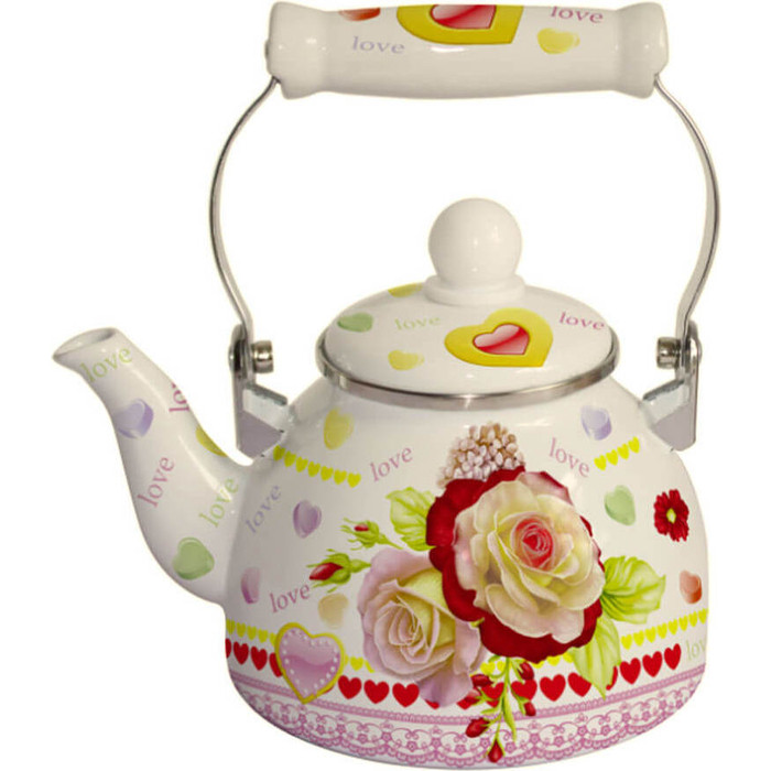 Чайник эмалированный 2 л MercuryHaus (MC-7519) чайник эмалированный epos дары лета 2 л