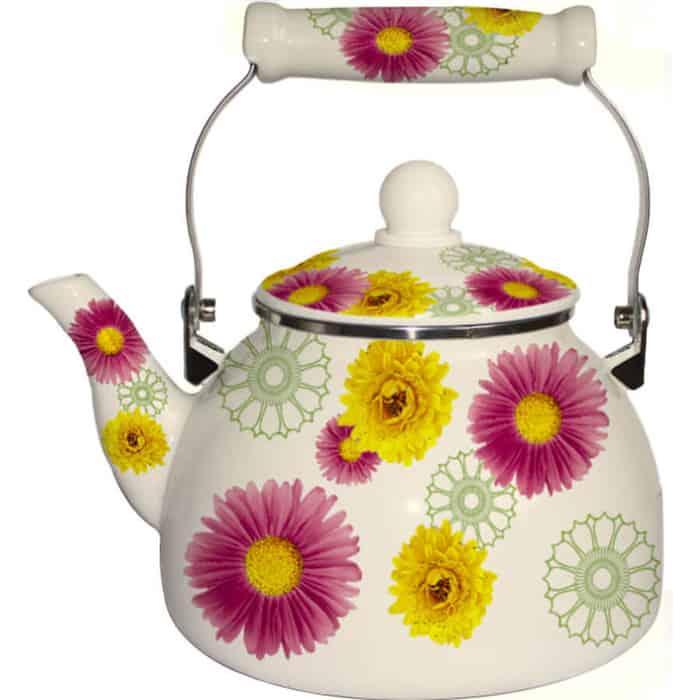 Чайник эмалированный 2.2 л MercuryHaus (MC-7527) чайник эмалированный 1 8 л mercuryhaus mc 7567