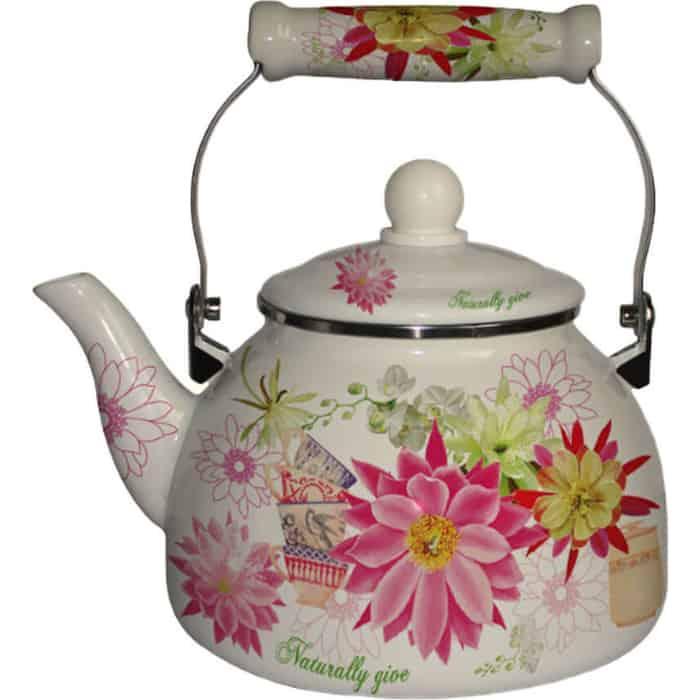 Чайник эмалированный 2.2 л MercuryHaus (MC-7529) чайник эмалированный 1 8 л mercuryhaus mc 7567