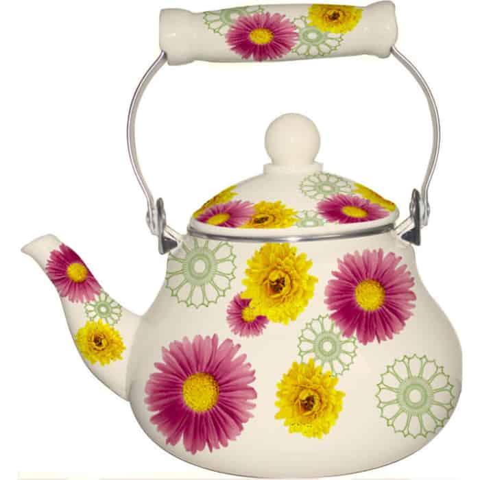 Чайник эмалированный 1.8 л MercuryHaus (MC-7563) чайник эмалированный 1 8 л mercuryhaus mc 7567