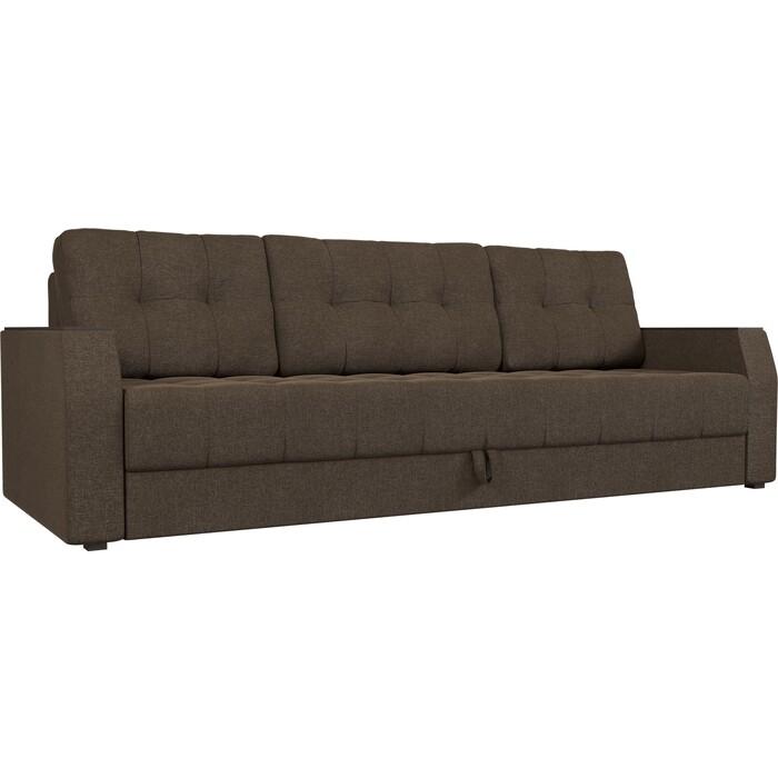 Диван-еврокнижка АртМебель Атлант БС рогожка коричневый диван еврокнижка артмебель манчестер рогожка серый окантовка коричневый