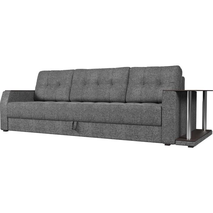 Диван-еврокнижка АртМебель Атлант рогожка серый стол с правой стороны диван еврокнижка артмебель атлант рогожка серый стол с левой стороны