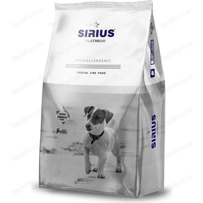 Сухой корм SIRIUS Platinum Hypoallergenic индейка с овощами для взрослых собак малых пород 1,2кг