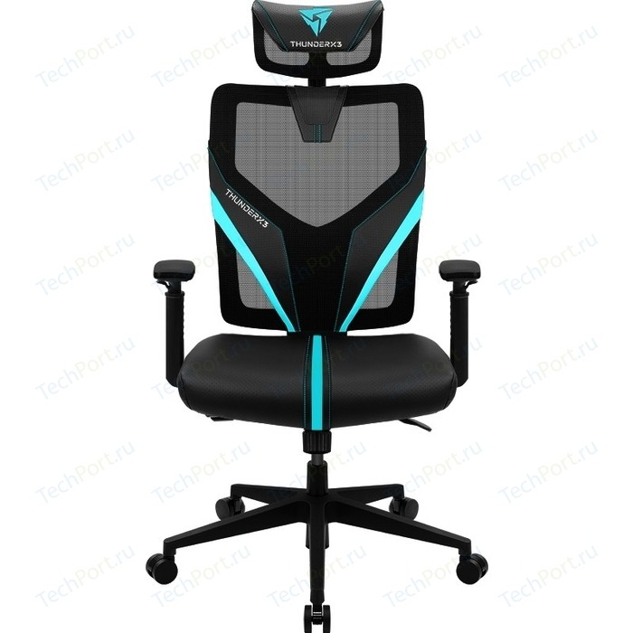 Кресло компьютерное игровое ThunderX3 YAMA1 black-cyan
