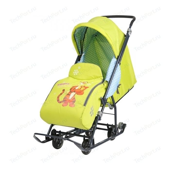 Санки коляски Nika Disney Baby 1 (C Тигром лимонный)