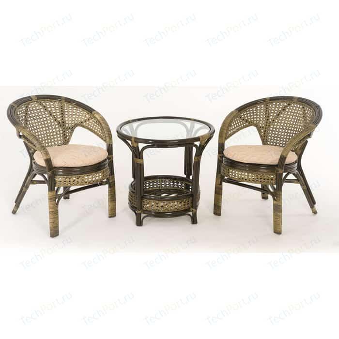 Комплект для отдыха Vinotti 02/15 (2 кресла+стол) олива