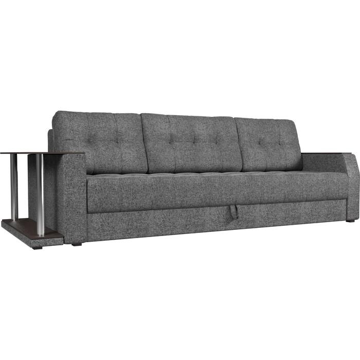 Диван-еврокнижка АртМебель Атлант рогожка серый стол с левой стороны диван еврокнижка артмебель атлант рогожка серый стол с левой стороны