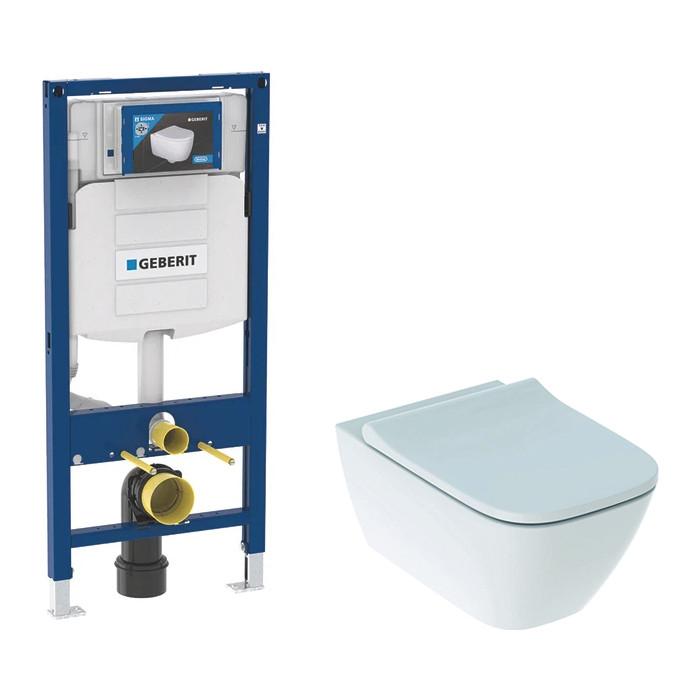 Комплект Geberit Duofix Smyle Squar Rimfree, унитаз с сиденьем микролифт, инсталляция (111.300.00.5-500.683)