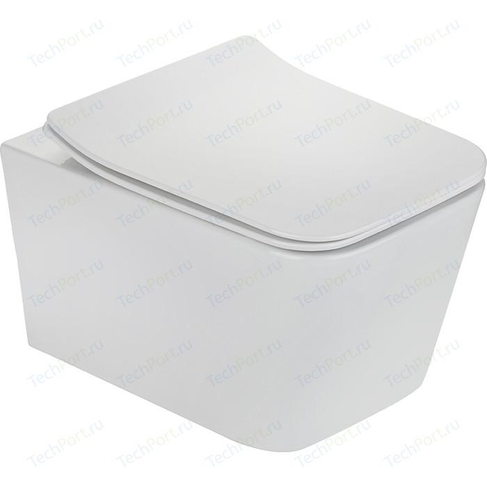 Подвесной унитаз Teka Formentera rimless, тонкое сиденье с микролифтом в комплекте, белый (117320000)
