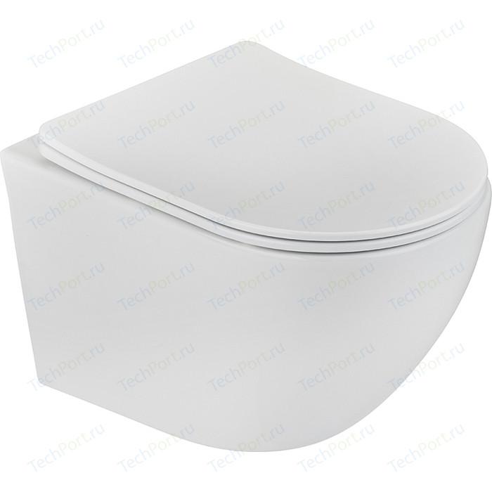 Унитаз подвесной Teka Manacor rimless, с сиденьем и крышкой микролифт, белый (117320002)