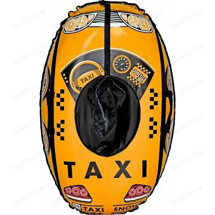 Тюбинг Тяни Толкай овальные МАШИНКА Taxi Snow желтая автокамера