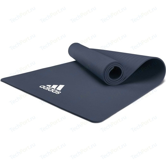 коврик для йоги adidas adyg 10100bl Коврик для йоги Adidas ADYG-10100BL, 176x61x0,8 см голубой