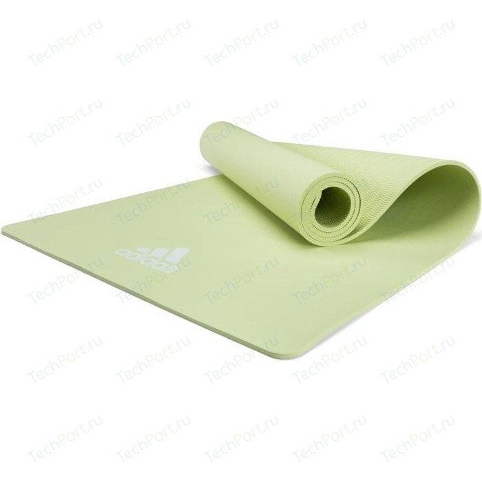 коврик для йоги adidas adyg 10100bl Коврик для йоги Adidas ADYG-10100GN, 176x61x0,8 см зеленый