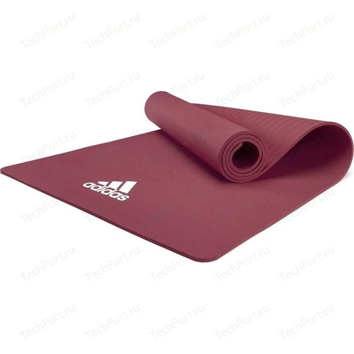 коврик для йоги adidas adyg 10100bl Коврик для йоги Adidas ADYG-10100MR, 176x61x0,8 см загадочно-красный