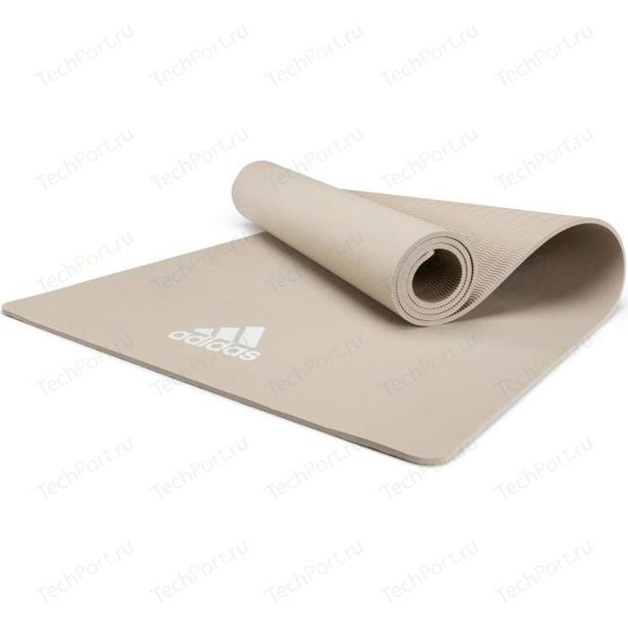 коврик для йоги adidas adyg 10100bl Коврик для йоги Adidas ADYG-10100VG, 176x61x0,8 см светло-серый