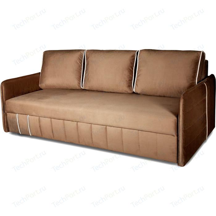 Диван-кровать DИВАН Слим (velutto 03 коричневый, 18 бежевый) арт 80327273