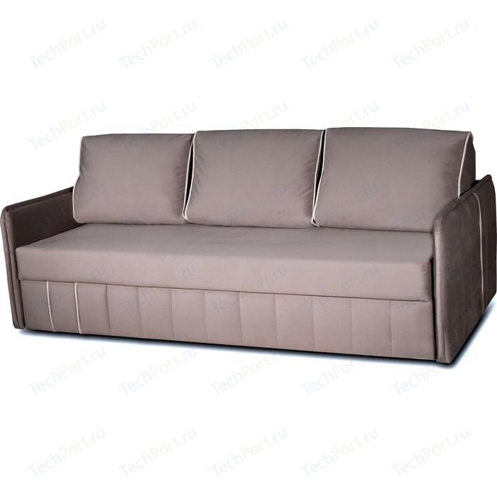 Диван-кровать DИВАН Слим (velutto 08 серый, 16 беленый дуб) 80327275