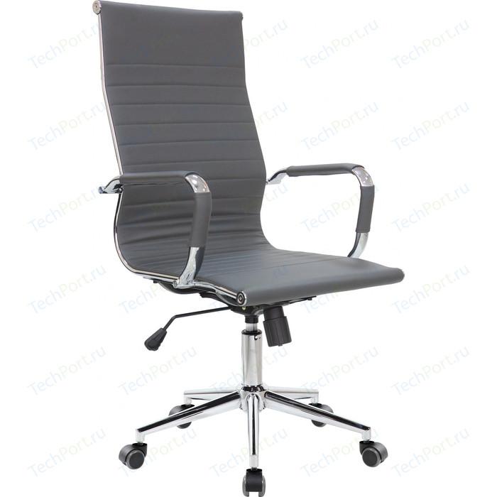 Кресло Riva Chair RCH 6002-1S серый (Q-02) кресло riva chair rch 6003 3 camel q 04