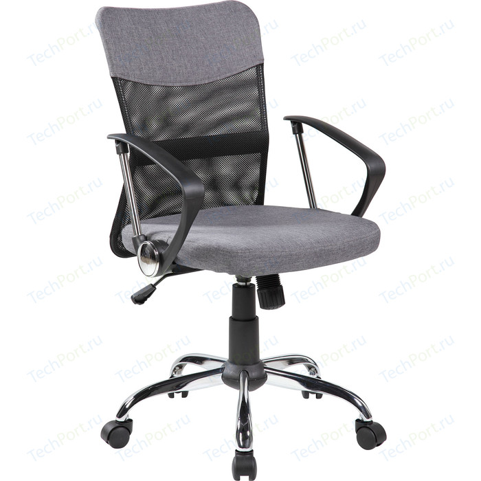 Кресло Riva Chair RCH 8005 черная сетка /ткань серая
