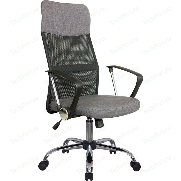 Кресло Riva Chair RCH 8074 F черная сетка /ткань серая