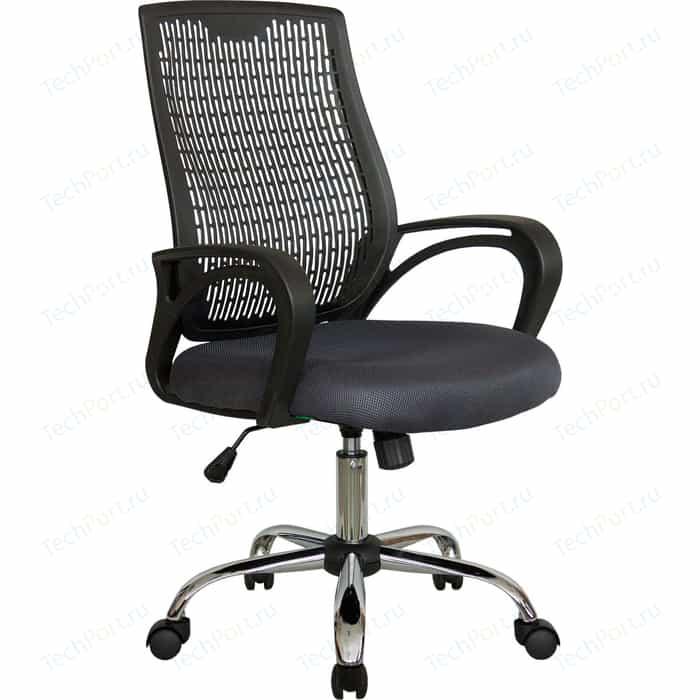 Кресло Riva Chair RCH 8081 серый/черный пластик