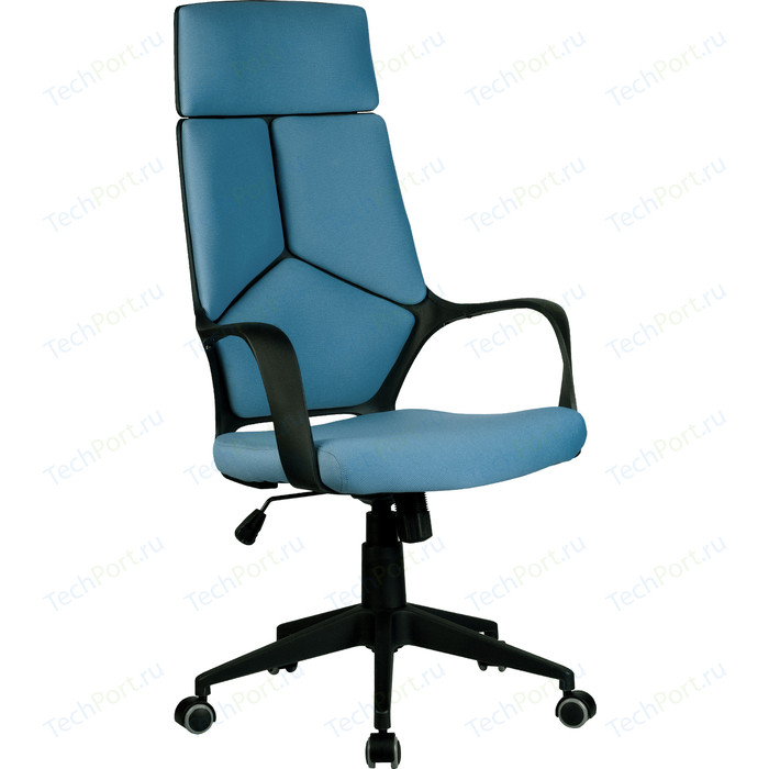 Кресло Riva Chair RCH 8989 черный пластик, синяя ткань (287)