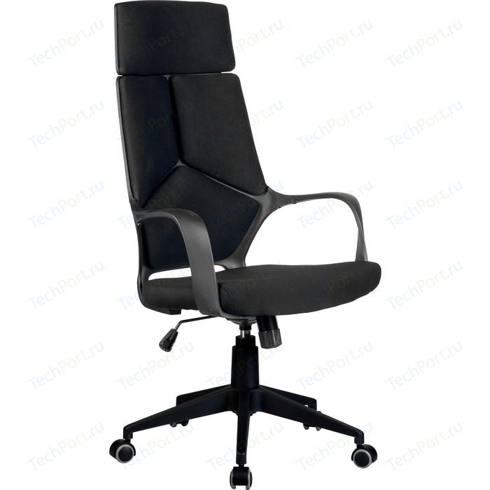 Кресло Riva Chair RCH 8989 черный пластик, черная ткань (54)