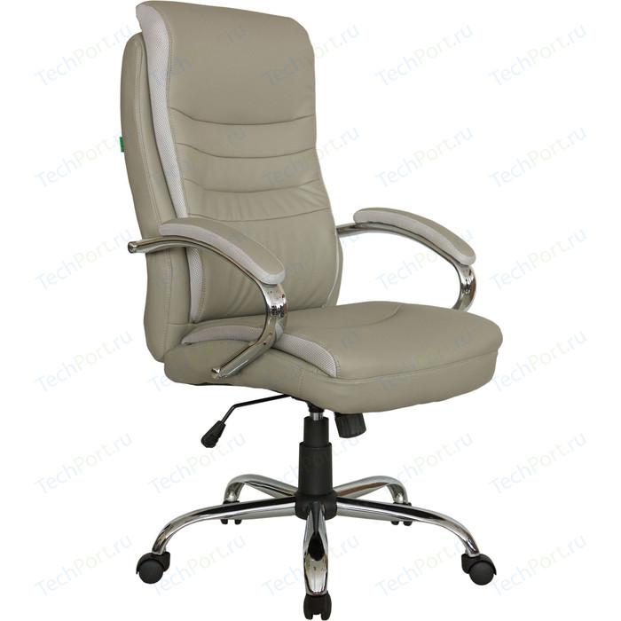 Кресло Riva Chair RCH 9131 серо-бежевый (QC-12)