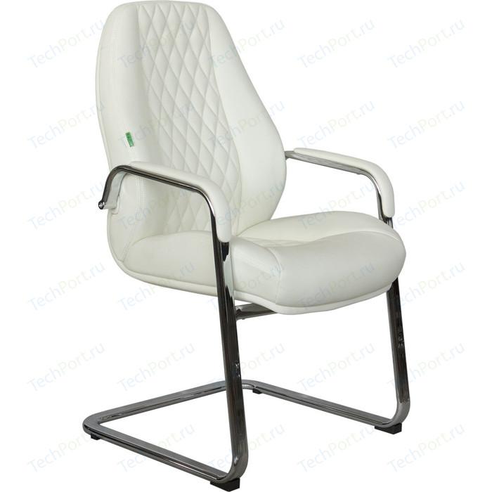Кресло Riva Chair RCH F385 натуральная кожа белый (6207)