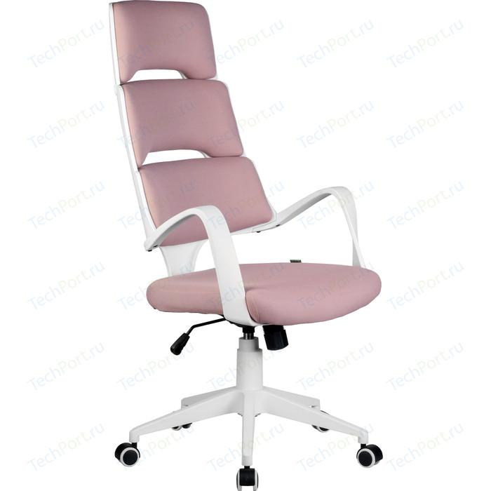 Кресло Riva Chair RCH Sakura белый пластик, розовая ткань (360)
