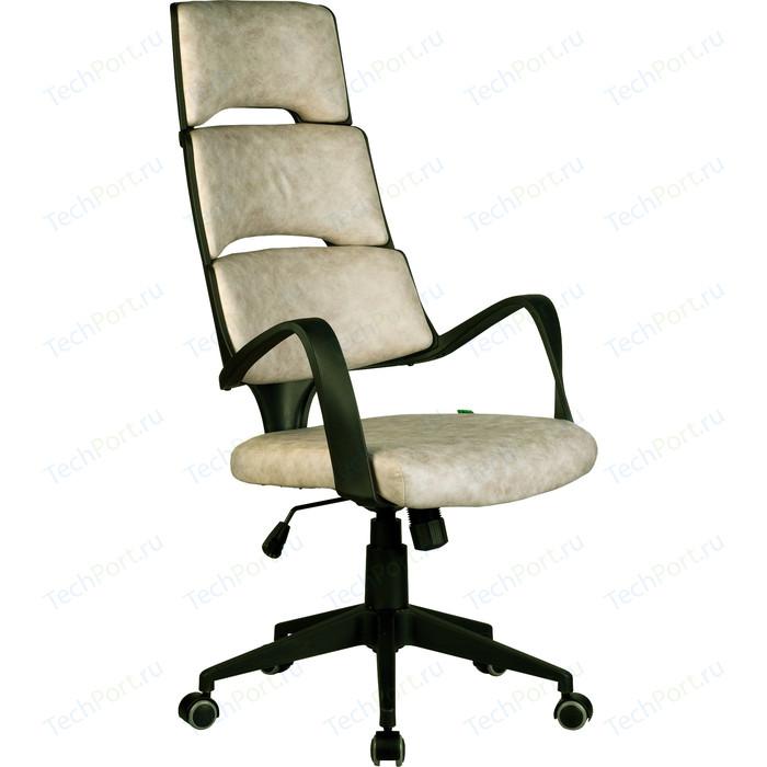 Кресло Riva Chair RCH Sakura черный пластик, ткань фьюжн пустыня Сахара(211)