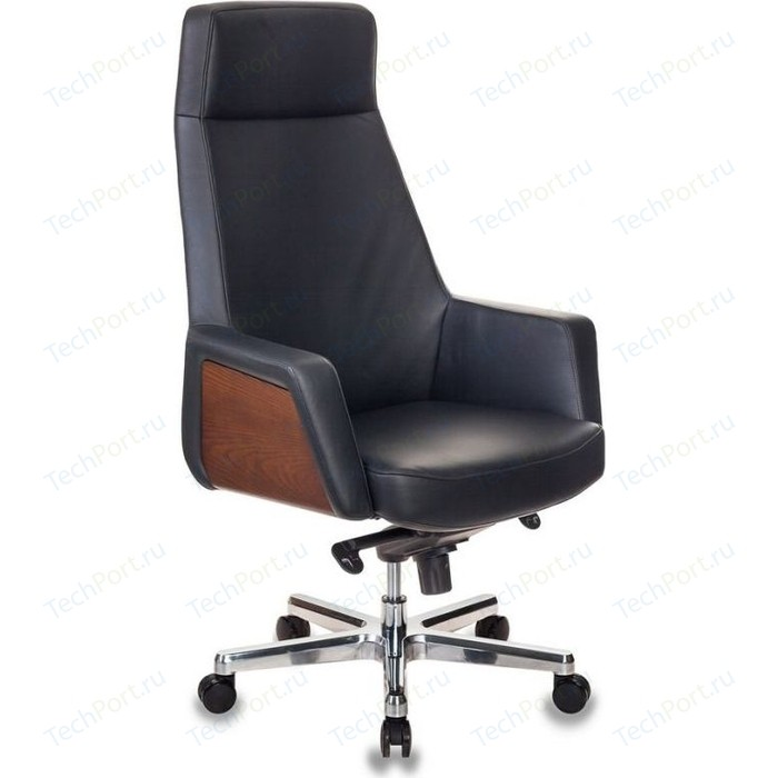 Кресло руководителя Бюрократ ANTONIO/BLACK черный кожа крестовина алюминий