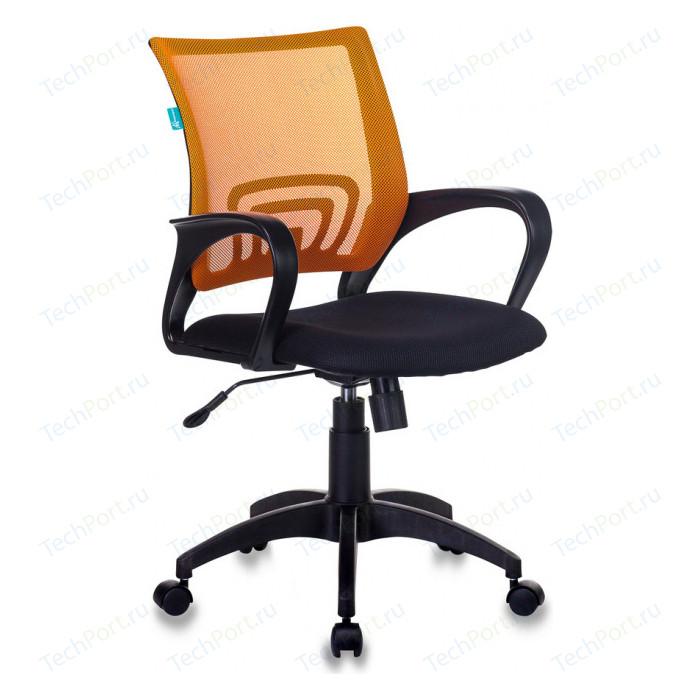 Кресло Бюрократ CH-695N/OR/TW-11 спинка сетка оранжевый TW-38-3 сиденье черный TW-11 кресло buro ch 599 r tw 97n спинка сетка красный tw 35n сиденье красный tw 97n
