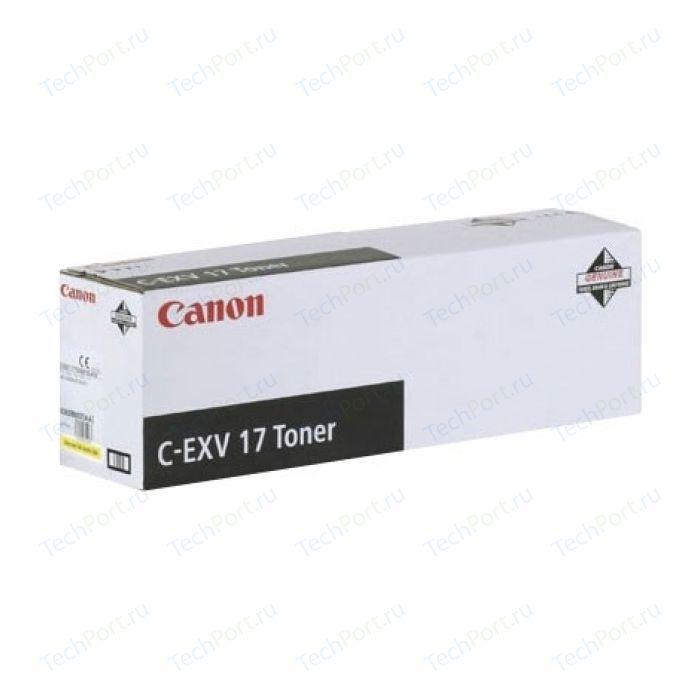 Kартридж Canon C-EXV17 yellow (0259B002)