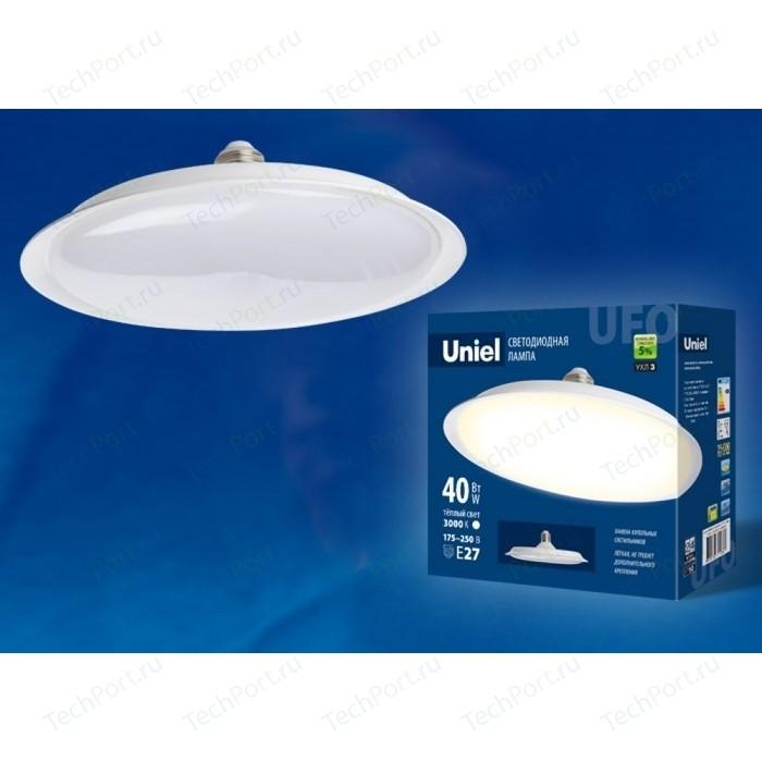 Светодиодная лампа светильник Uniel LED-U220-40W/3000K/E27/FR PLU01WH