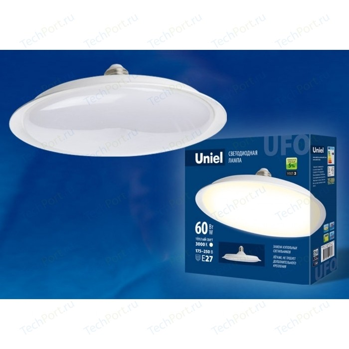 Светодиодная лампа светильник Uniel LED-U270-60W/3000K/E27/FR PLU01WH