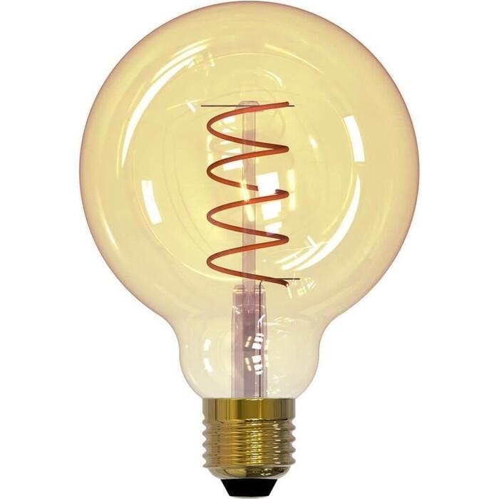 Филаментная светодиодная лампа Uniel LED-G95-4W/GOLDEN/E27/CW GLV21GO