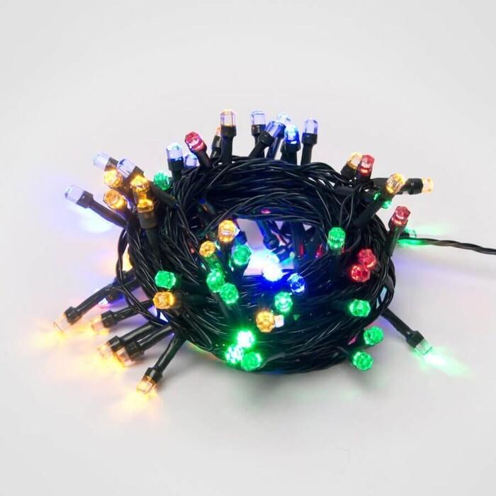 Гирлянда светодиодная с контроллером Uniel ULD-S0800-100/DGA MULTI IP20 CRYSTAL-1