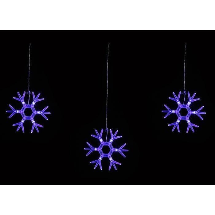Светодиодный занавес фигурный Uniel ULD-E1503-036/DTA BLUE IP20 SNOWFLAKES-1