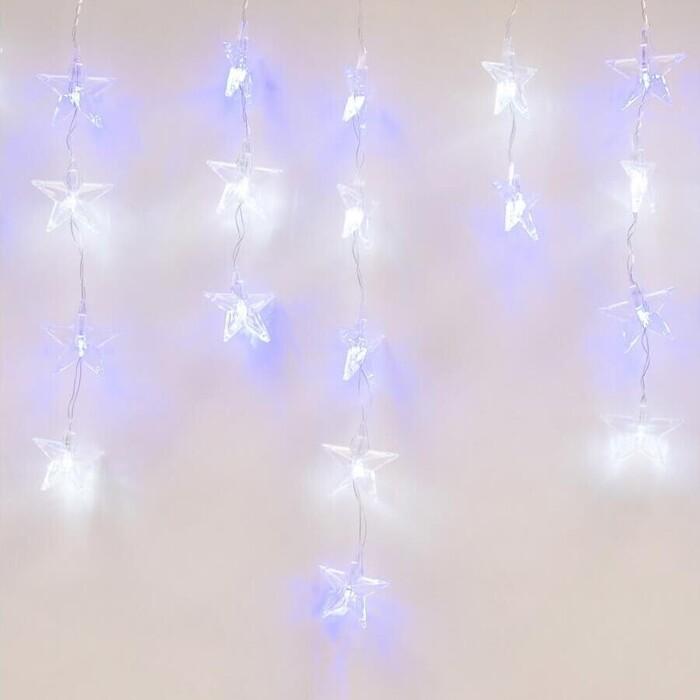 Светодиодный занавес фигурный Uniel ULD-E5505-196/DTK WHITE-BLUE IP20 STARS-1