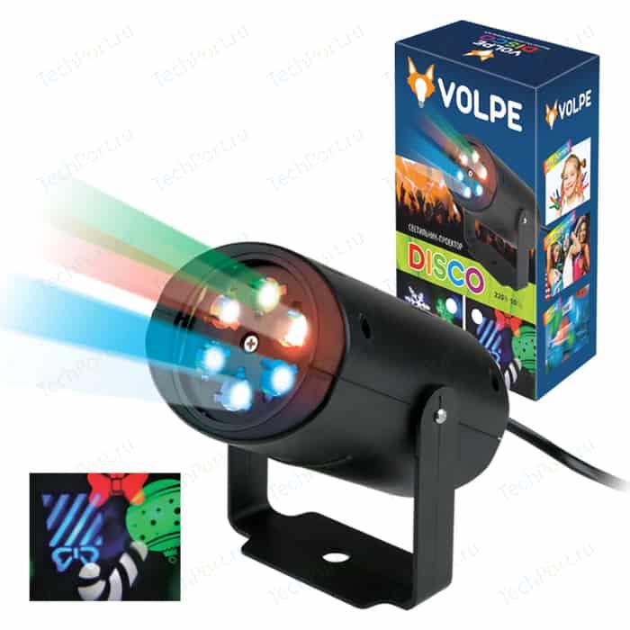 Светодиодный светильник-проектор Volpe ULI-Q306 4W/RGB BLACK XMAS