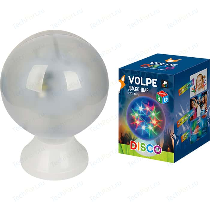 Светодиодный светильник Volpe ULI-Q307 4,5W/RGB WHITE ДИСКО ШАР 3D