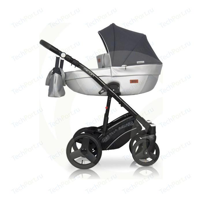 Коляска 3 в 1 Riko Basic AICON 08 графит -серый коляска 3 в 1 indigo marco art f mr 10 св серый узор т серый св серая кожа